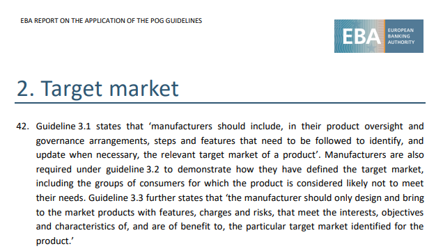 """[Produkty] Wyznaczenie rynku docelowego według EBA i jej najnowszego raportu. Konsument """"w centrum"""" produktu."""