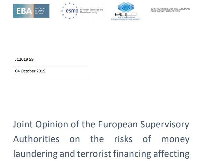 Raport unijnych nadzorców w sprawie AML (i nie tylko) w kontekście rozwoju sektora fintechowego. Jakie wnioski dla Fintechów i RegTechów?