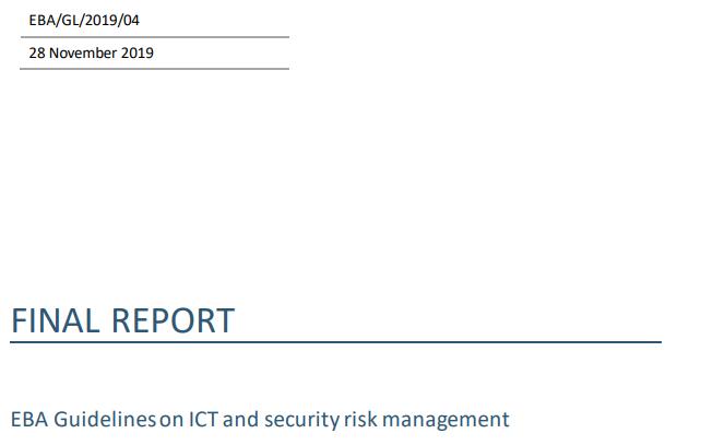 Jest trochę zmian, a czasu mało. Nowe wytyczne EBA w sprawie zarządzania ryzykami IT oraz bezpieczeństwa. Cz. 1. Definicja, strategia i strony trzecie
