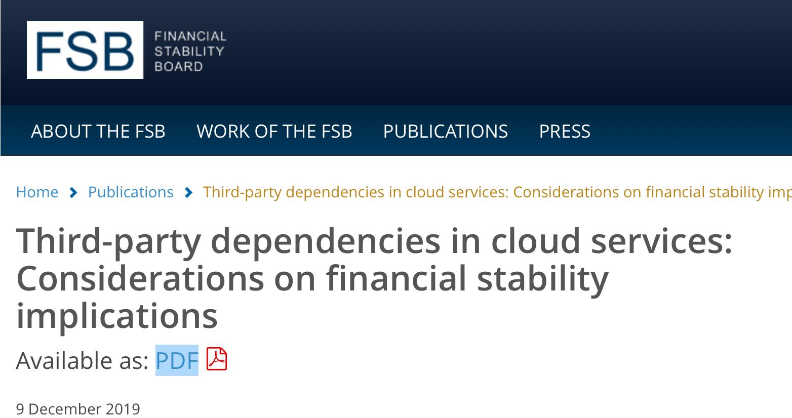 Financial Stability Board o chmurze. Czy lokalne centra danych to dobre rozwiązanie?