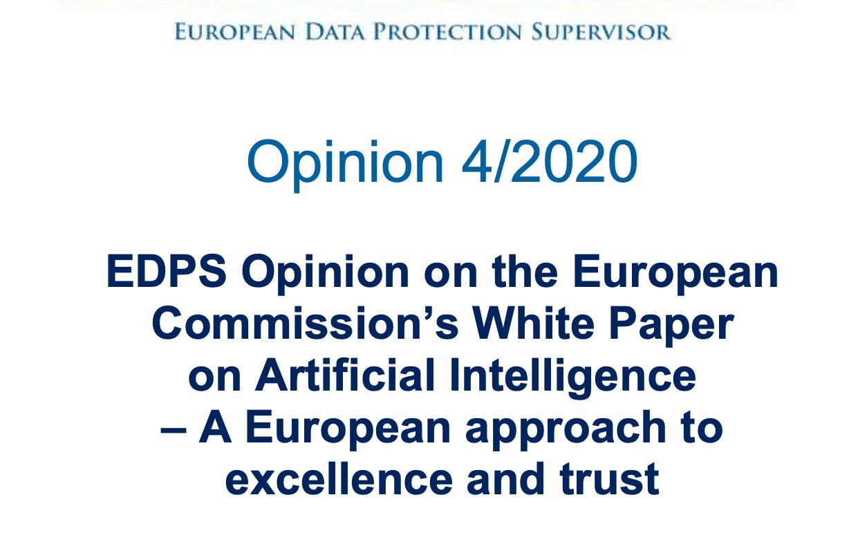 EDPS ocenia i rekomenduje zmiany do Białej Księgi ws. sztucznej inteligencji. Będzie głębsza debata?