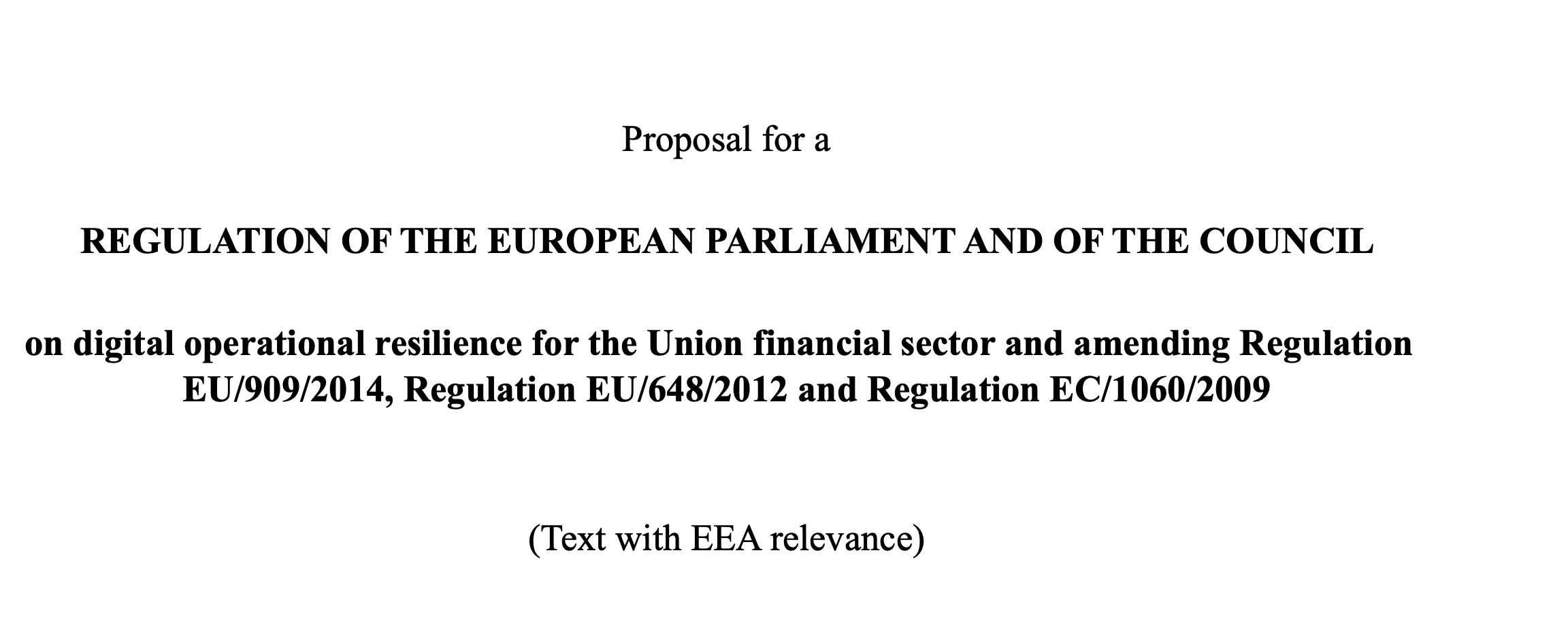 Projekt unijnego rozporządzenia w sprawie digital operational resilience dla sektora finansowego. Co w nim znajdziemy?