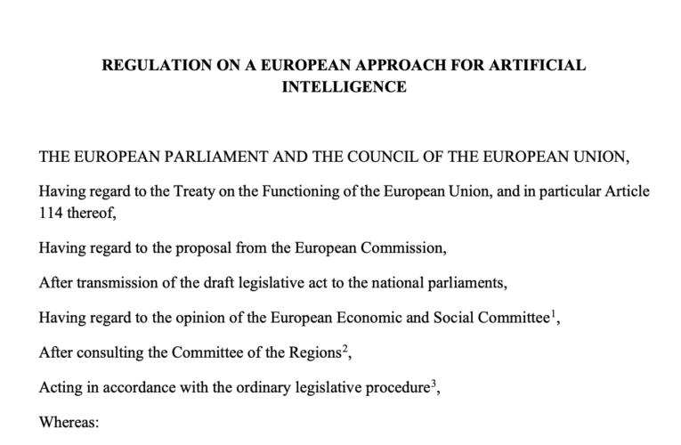 Jest propozycja Rozporządzenia w sprawie sztucznej inteligencji w UE. Pierwsza analiza projektu